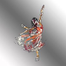 Paul La Poutré – Silence - Paul La Poutré: Erste Unikatserie –100 % von Hand auf Edelstahl gemalt. 12 Exemplare. Exklusiv bei Pro-Idee. Maße: 100 x 100 cm
