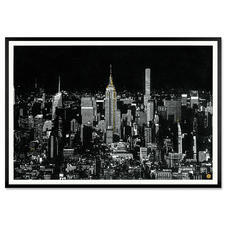 Tim Bengel – New York Skyline - Tim Bengel: Seine einzigartigen Originale aus Sand und Gold erobern die Kunstwelt. Erste Edition. Von Hand veredelt. 25 Exemplare. Maße: gerahmt 120 x 84 cm