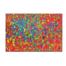 Mikail Akar – Rote Punkte - Erst 7 Jahre alt – schon 4-stellige Verkaufspreise. Editionsdebüt von Deutschlands jüngstem Abstraktkünstler Mikail Akar. Maße: 120 x 80 cm