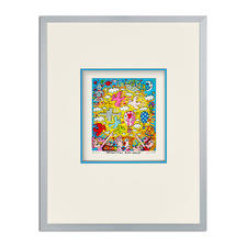 James Rizzi – Beautiful sun daze - 3D-Papierskulpturen des verstorbenen James Rizzi. 350 Exemplare. Maße: gerahmt 31 x 41 cm