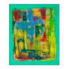 Mikail Akar – Welle - Mikail Akar: Erst 7 Jahre alt – schon 4-stellige Verkaufspreise. Deutschlands jüngster Abstraktkünstler mit seiner ersten Edition seiner gefragten gespachtelten Werke. Maße: 90 x 110 cm