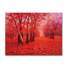 Pei Lian Zhi – Red Forest - Pei Lian Zhi: In mehr als 200 Sammlungen vertreten.Neueste Edition – partiell von Hand übermalt. 40 Exemplare. Maße: 120 x 90 cm