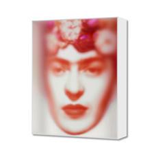 Maxim Wakultschik – Rote Frida - Einzigartig: 3D-Objektkunst durch exakt berechnete Stauchung. Maxim Wakultschiks von Hand gefertigte Unikatserie – exklusiv bei Pro-Idee. 5 Exemplare. Maße: 60 x 75 cm