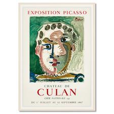 Pablo Picasso – Kopf eines bärtigen Mannes - Zufallsfund: 50 Lithografien, die von Pablo Picasso persönlich autorisiert wurden. Im Werksverzeichnis aufgeführt. Exklusiv bei Pro-Idee. Maße: gerahmt 60 x 85 cm