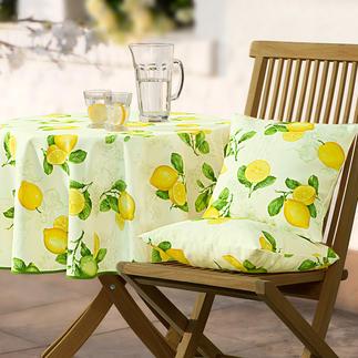 Provenzalische Tischwäsche Stilvoll wie in der Provence. Dabei fleckabweisend, lichtecht und pflegeleicht. Für Drinnen und Draußen.