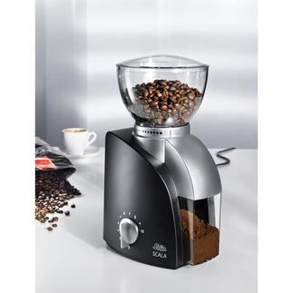 Solis Kaffeemahlwerk Die aromaschonende Kaffeemühle: 420 Umdrehungen pro Minute statt üblicher 800 und mehr.