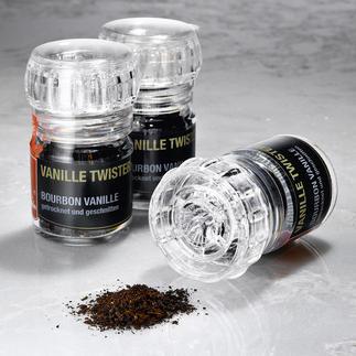 Vanilla Twister Beste Bourbon-Vanilleschoten. Viel praktischer, ergiebiger und exakt zu dosieren. Und immer frisch gemahlen.