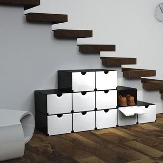 Geniale Faltboxen oder Smartes Regal Mit wenigen Handgriffen: Schuh- oder Vorratsschrank, Schreibtisch-Container, Badregal, ...