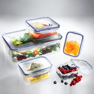 """""""Lock & Lock""""-Frischhaltedosen, 5er-Set Schützen Vitamine und Inhaltsstoffe vor Bakterien und Keimen. Mit patentiertem Sicherheitsverschluss."""