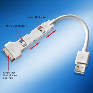 Magic Cable Trio Extrem praktisch: Ein Kabel für Ihr iPhone, iPad, iPod und Ihre anderen mobilen Geräte.