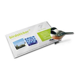 birdsticker®, 10er-Set Lebensrettend für Vögel. Für das menschliche Auge praktisch unsichtbar.