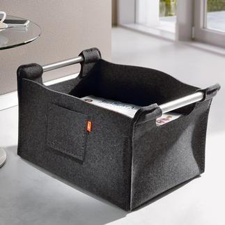 Wollfilz-Zeitungssammler Trendy, tragkräftig und robust. Selten ist modernes Design so warm und wohnlich.