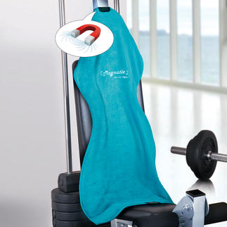 Magnatic® Sporthandtuch, 2er-Set Viel praktischer. Und hygienischer. Rutscht nicht vom Hals. Und nicht von den Fitnessgeräten.