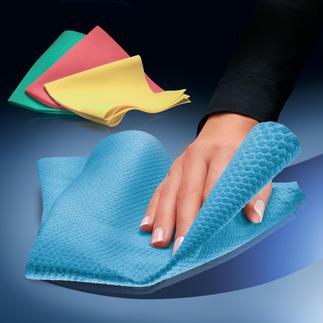 Antibakterielle Profi-Reinigungstücher, 8er-Set (2 Stk. je Farbe) Die Reinigungstücher der Profis: streifenfreie Sauberkeit und antibakterielle Wirkkraft – in einem Arbeitsgang.
