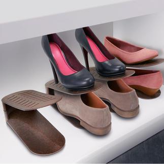 Schuhstapler, 8er-Set Endlich Schluss mit Platzmangel im Schuhschrank und -regal.