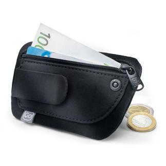 """Minibörse """"Clippouch"""" Geld, Kreditkarte, Personalausweis, ... auch in leichter Sommerkleidung alles dabei."""