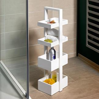 wireworks Design-Regal, Weiß Stummer Diener. Mehrstöckiges Tablett. Und handliche Etagere mit praktischem Stauraum.