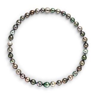 Tahitiperlen-Collier oder -Armband Dunkle Tahiti-Zuchtperlen vom Perlenkönig Robert Wan: Größer. Makelloser. Brillanter.