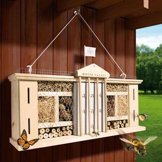 """Insektenhotel """"White Palace"""" Luxuriöser Schlaf- und Nistplatz. Reine Naturmaterialien bieten artgerechte Refugien."""