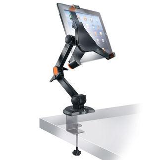 """iPad-Tischhalter """"Vario"""" Der genial variable Tischhalter: für Ihr iPad – und alle gängigen Tablet-PCs. Sicher. Stabil. Und erfreulich günstig."""