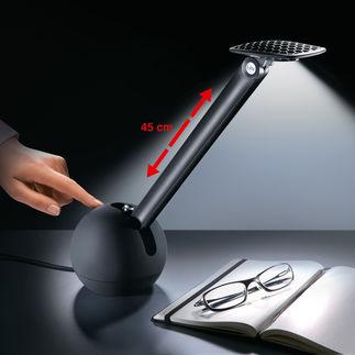 """Federstahl-LED-Leuchte """"Kiu"""" Für Technik- und Design-Fans: Coole Tischleuchte mit Aufroll-Arm aus Federstahl."""