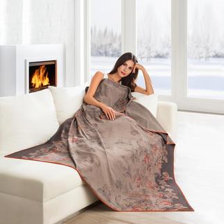 Edel-Fleece-Decke Leicht und weich wie ein Kaschmir-Plaid. Pflegeleicht wie Ihre Handtücher. Seltener Edel-Fleece mit Baumwolle.