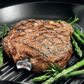 SteakChamp® Misst vollautomatisch die Kerntemperatur, berücksichtigt die Ruhephase & informiert über den gewünschten Gargrad.