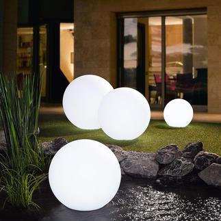 LED-Akku-Leuchtkugel Faszinierendes Lichtspiel mit bis zu 17 Farben verzaubert Ihren Garten.