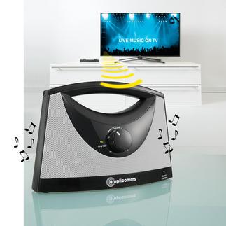 TV-SoundBox® TV-Ton, wo Sie möchten. Kabellos. Genau in der Lautstärke, die Ihnen angenehm ist.