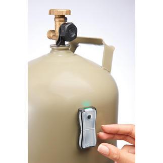Gaslevel-Anzeiger Der präzise Füllstands-Messer: ermittelt in Sekunden, wie viel Vorrat noch in Ihrer Gasflasche ist.
