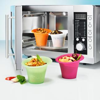 Silikon-Portionsformen, 4er-Set Beliebte Mini-Kuchen und andere Köstlichkeiten: ruck-zuck in der Mikrowelle gebacken und direkt in der Form serviert.