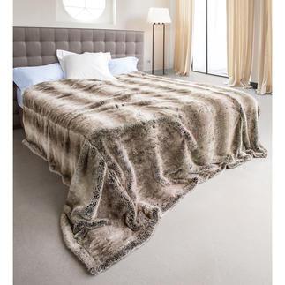 Yukonwolf Oversize-Plaid Sehr trendy. Kuschelig und leicht. Der perfekte Überwurf für Doppelbetten.