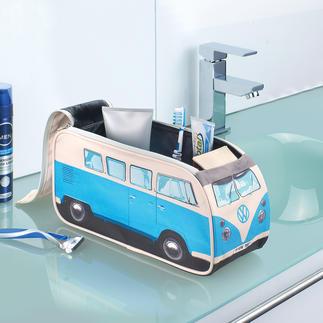 Kulturbeutel VW Bulli Detailgetreu und offiziell lizensiert. Früher Kult-Bus – heute Kulturbeutel. Noch immer auf jeder Reise dabei: Der VW Bulli.