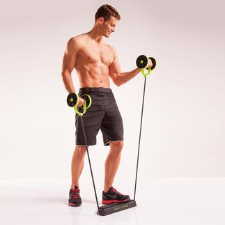 Revoflex Xtreme® Bauchmuskeltrainer 44 Übungen in 6 Trainingsstufen ganz einfach und bequem zu Hause.