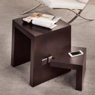 Design-Stufenhocker Aus massivem Buchenholz. Perfekt als Beistelltisch, Sitz- und Steigmöglichkeit.