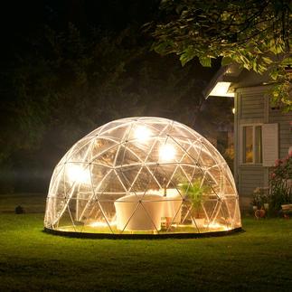 Garden Igloo®, Basis-Set mit Winterfolie Aufsehen erregendes Kuppel-Design für Ihren Garten. & fürs ganze Jahr. Extrem robust & standfest, dennoch mobil.
