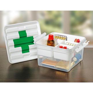 Hausapotheken-Box In dieser praktischen Box verstauen Sie Medikamente, Verbandsmaterial, Pflaster, …