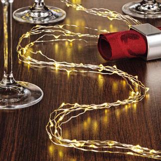 """Engelshaar-Lichterkette Fein wie Engelshaar: 180 """"tanzende"""" Mikro-LEDs an kaum sichtbaren Strängen."""
