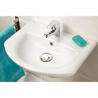 XL-Waschbeckenstöpsel Chrom Verschönert Ihr Waschbecken im Handumdrehen. 6,2 cm Ø – verdeckt den unattraktiven Ablaufbereich.