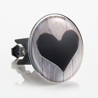 XL-Waschbeckenstöpsel Herz Verschönert Ihr Waschbecken im Handumdrehen. 6,2 cm Ø – verdeckt den unattraktiven Ablaufbereich.
