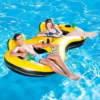 """Aufblasbarer Badesessel """"Duo"""" Komfortabler Badespaß für zwei. Zweifache Erfrischung."""