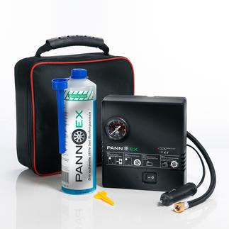 Pannex Reifenpannen-Set, 5-teilig Das innovative Dichtmittel auf Mikrofaser-Basis. Verschließt Schadstellen bis 8 mm in Minuten.