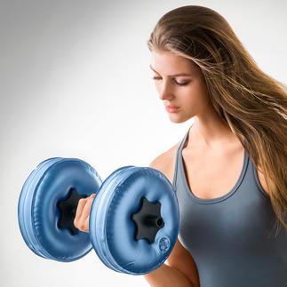 Wasser-Hanteln, 2er-Set Hanteln to go: Mit Wasser gefüllt bis zu 8 kg schwer, ohne 480 g leicht. Auf Reisen so effektiv trainieren wie zu Hause.