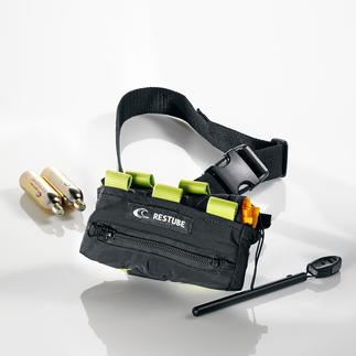 RESTUBE® sports Viel sicherer: der Schwimm-Airbag. Bläst sich im Notfall in Sekunden selbst auf. Von Profis erprobt.