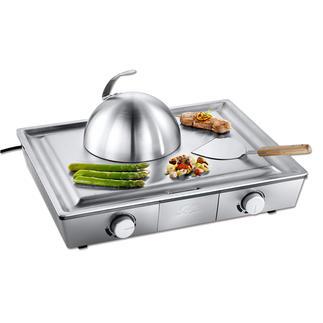 Solis Teppanyaki/Tischgrill Der bessere Teppanyaki – mit 2 Temperatur-Zonen.