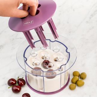 Kirschenentkerner Entkernt 7 Kirschen auf einen Streich. Schnell, einfach und sauber.