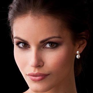 """2-in-1 Ohrringe """"schwebende Perle"""" 1 Paar Ohrringe – 2 Looks: tagsüber dezenter Perlen-Stecker, abends außergewöhnlicher Perlen-Ohrhänger."""