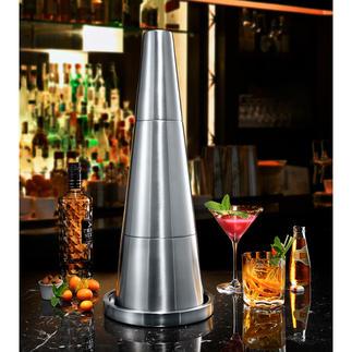 Skyscraper Bar-Set Integriert raffiniert Tablett, Eiskübel, Flaschenkühler und Shaker. Beansprucht nur minimale Stellfläche.