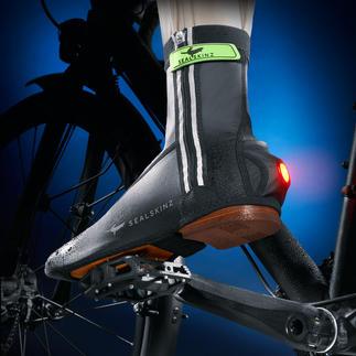 """Sealskinz Fahrrad-Überschuhe, Paar Preisgekrönt: der erste Fahrrad-Überschuh mit """"Rücklicht"""". Perfekter Wetterschutz und maximale Sicherheit."""