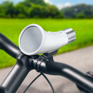 Bluetooth-Speaker fürs Fahrrad Kleines Soundwunder auf dem Bike. Gleichzeitig Freisprecher und Lampe.